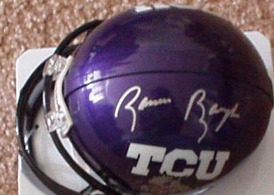 Sammy Baugh autographed TCU mini helmet