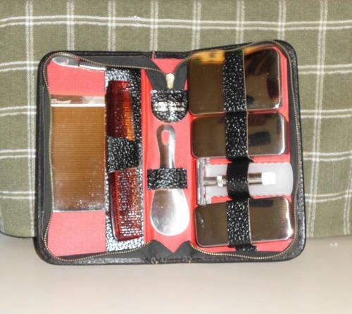 1950s Ground Leather Travel Kit