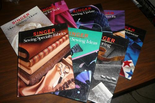Sewing Books SINGER Lot of 8 Hardcover Vintage