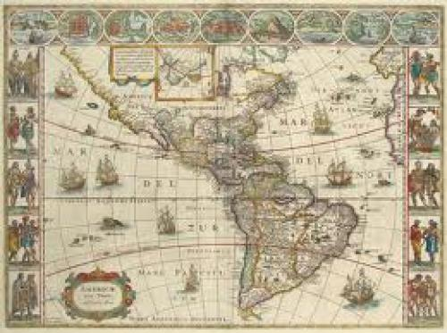 Antique Map of Americas - Reproduction