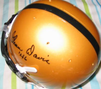 Glenn Davis autographed Army mini helmet dated '46