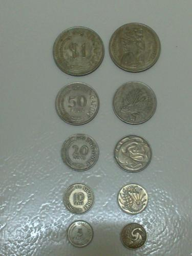 Singapore 70's to 80's Coin Series