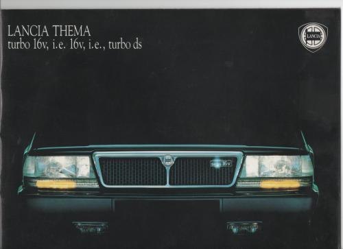 brochure LANCIA THEMA 1989