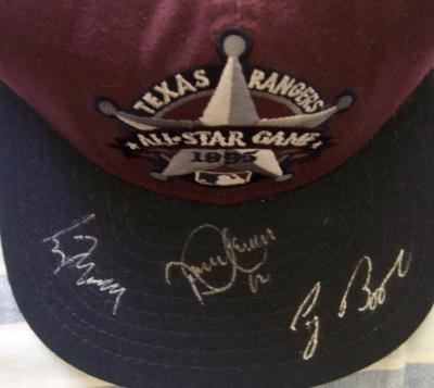 Roberto Alomar Craig Biggio Greg Maddux autographed 1995 All-Star Game cap