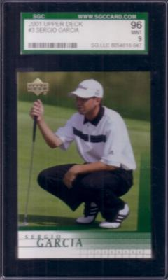Sergio Garcia 2001 Upper Deck Rookie Card SGC 96 MINT (PSA 9)