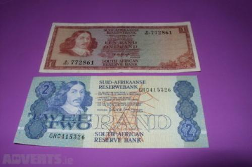 South Africa - 1/2 - Rand - 1973 - '90- 2 pcs