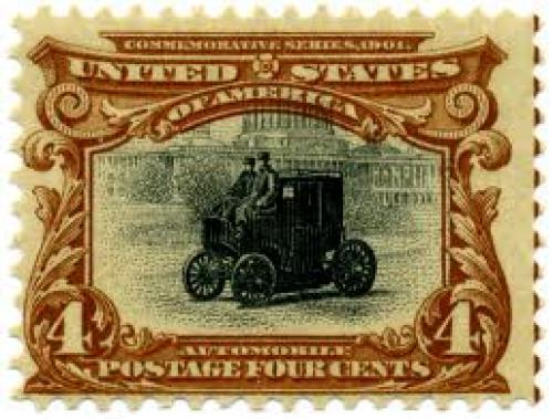 Stamps; US stamp 1901 Pan Am 4c Automobile