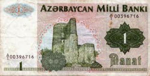 Banknotes; Azerbaijan;  1 Manat