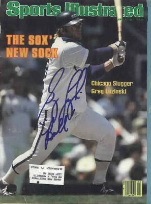 Greg Luzinski autographed Chicago White Sox 1981 Sports Illustrated