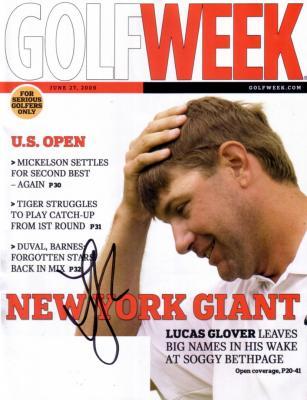 Lucas Glover autographed 2009 U.S. Open Golf Week
