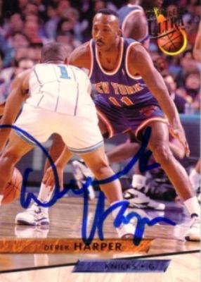 Derek Harper autographed New York Knicks 1993-94 Ultra card