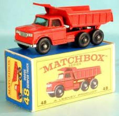 Matchbox; Dodge Dumper Toy Truck 48