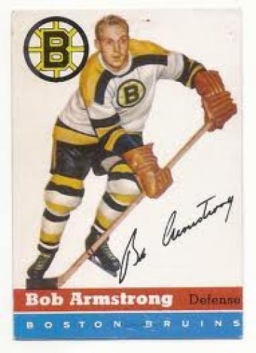 1954-55 Topps Hockey Cards; #7 Bob Armstrong