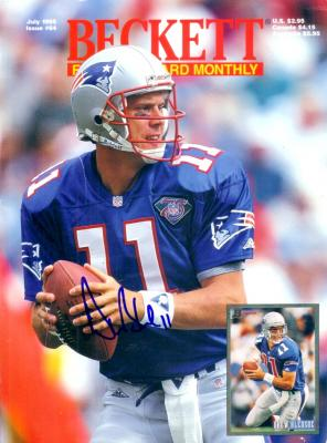 Drew Bledsoe autographed New England Patriots Beckett Football magazine cover