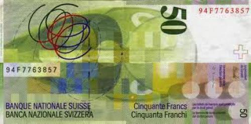 Banknotes; Switzerland 50 Swiss Francs: Sophie Taeuber