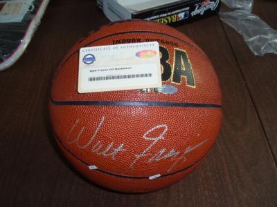 Walt Frazier (Knicks) autographed NBA basketball (Steiner)
