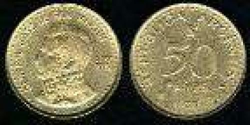 50 Pesos; Year: 1978; (km 81); aluminum bronze; SAN MARTIN 200TH ANIV