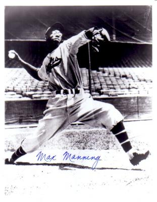Max Manning autographed Newark Eagles 8x10 photo