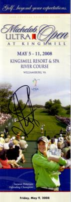 Suzann Pettersen autographed 2008 LPGA Michelob Ultra Open pairings guide