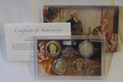 2010 United States Mint Presidential $1 Coin Proof Set