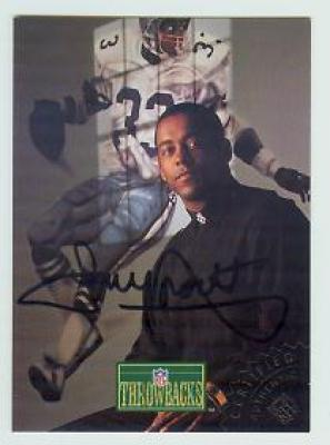 Tony Dorsett certified autograph Dallas Cowboys 1992 Pro Line Portraits card