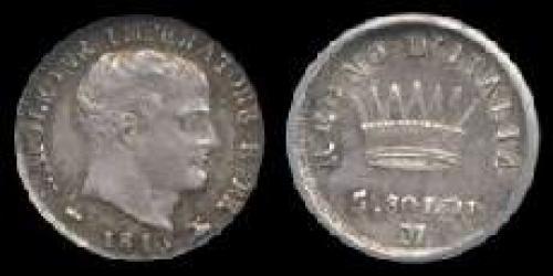 5 soldi 1808-1814 (km c#5)