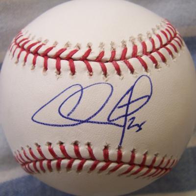 Chase Utley autographed MLB baseball