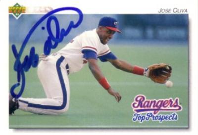Jose Oliva autographed 1992 Upper Deck Minors card