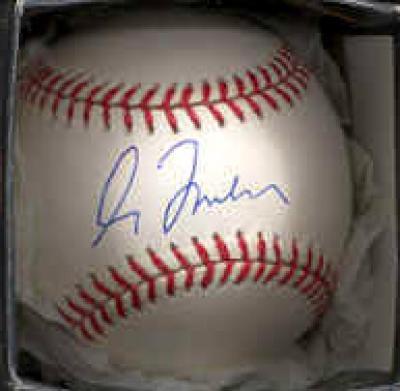 Greg Maddux autographed NL baseball