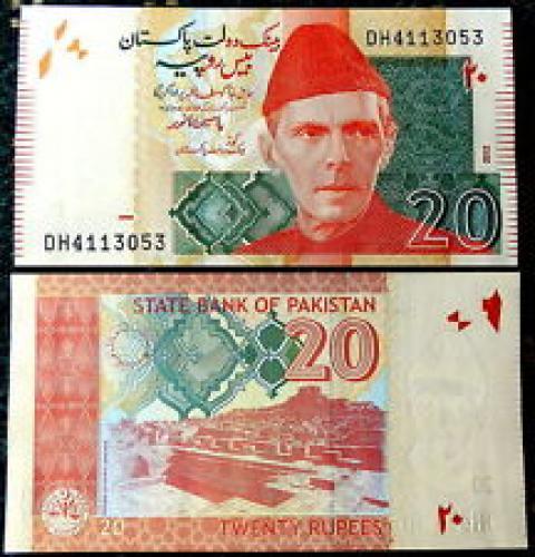 UNC 20 Rupee Pakistan