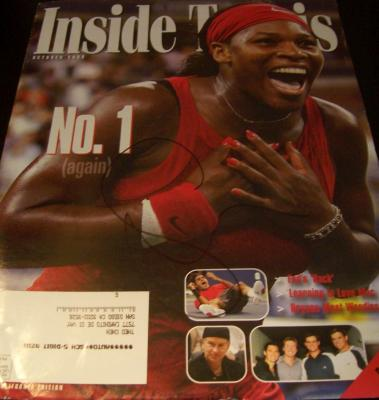 Serena Williams autographed 2008 Inside Tennis magazine