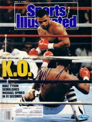 Mike Tyson autographed 1988 Sports Illustrated