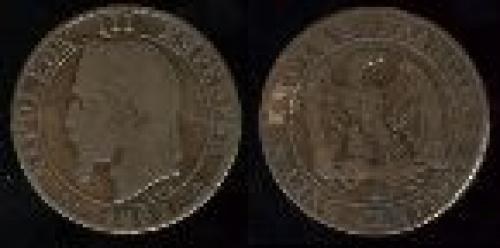 5 centimes; Year: 1861-1865; (km 797)