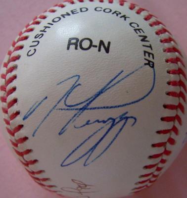 Mike Piazza Eric Karros Raul Mondesi Hideo Nomo autographed NL baseball