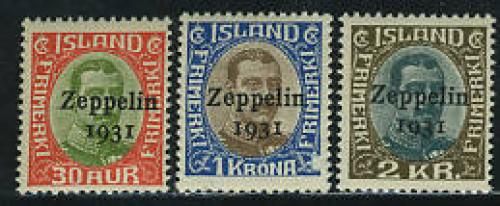 Zeppelin 1931 overprints 3v; Year: 1931