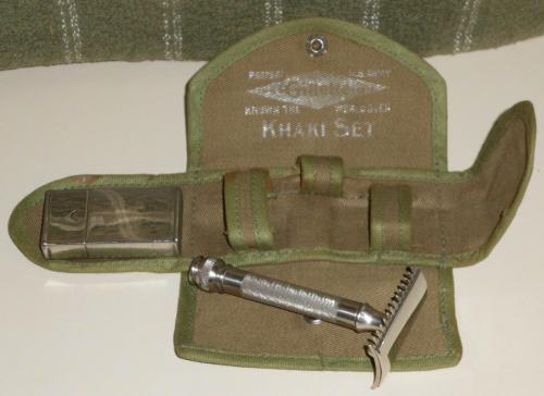 1918 Gillette U.S.Army Khaki Razor Set