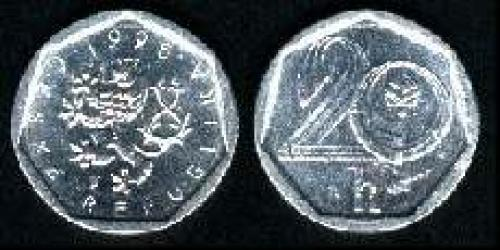 20 haleru 1993-1999 (km 2)