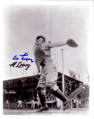 Al Lopez autographed vintage 8x10 photo