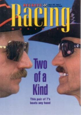 Dale Earnhardt & Richard Petty 1995 Beckett Racing promo card