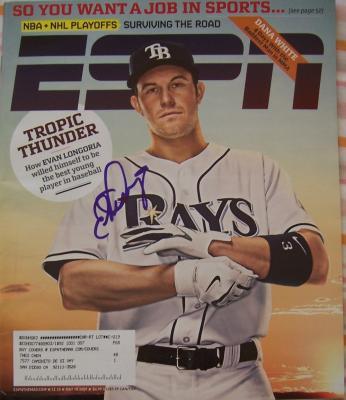 Evan Longoria autographed Tampa Bay Rays 2009 ESPN Magazine