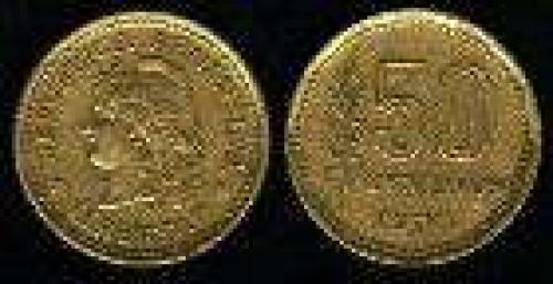 50 Centavos; Year: 1970-1976; (km 68); bronce; LIBERTAD LAUREL