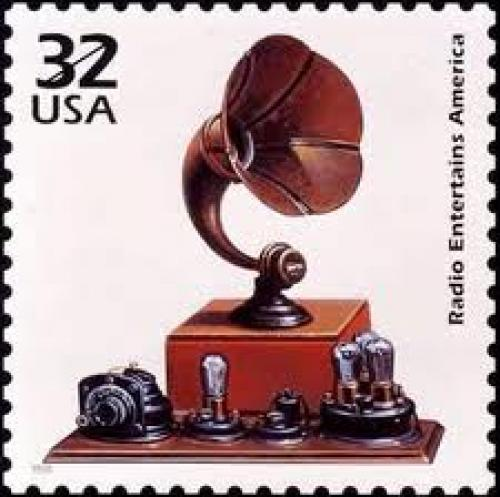 Stamps; Radio on USA postage stamp ...32c