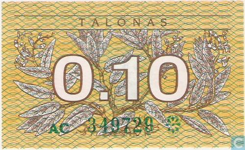 Lithuania 0.10 Talonas