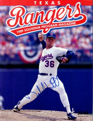 Bobby Witt autographed Texas Rangers 1989 Nolan Ryan 5000th Strikeout program