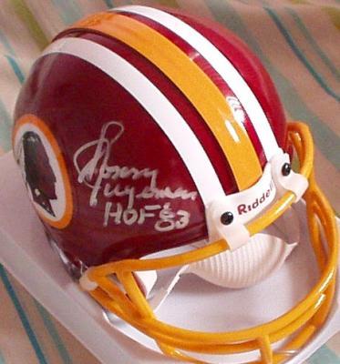 Sonny Jurgensen autographed Washington Redskins mini helmet