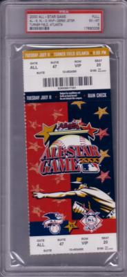 2000 MLB All-Star Game full ticket graded PSA 6