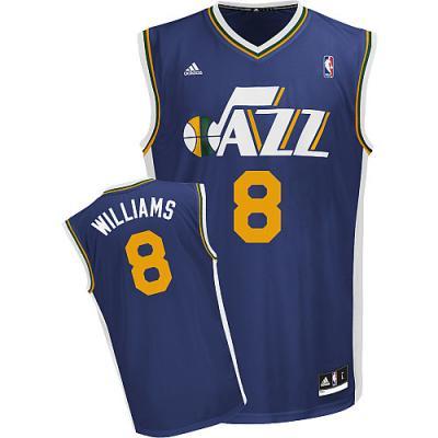 Deron Williams Utah Jazz Adidas Swingman blue stitched jersey NEW