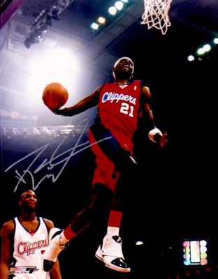 Darius Miles autographed Los Angeles Clippers 8x10 dunk photo