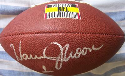Warren Moon autographed Sunday NFL Countdown mini football