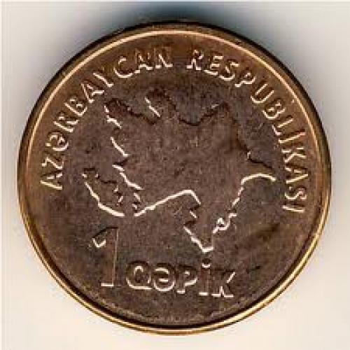 Coins; Azerbaijan, 1 qapik, 2006